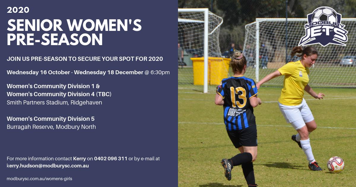 Senior Women's Trials 2020-2